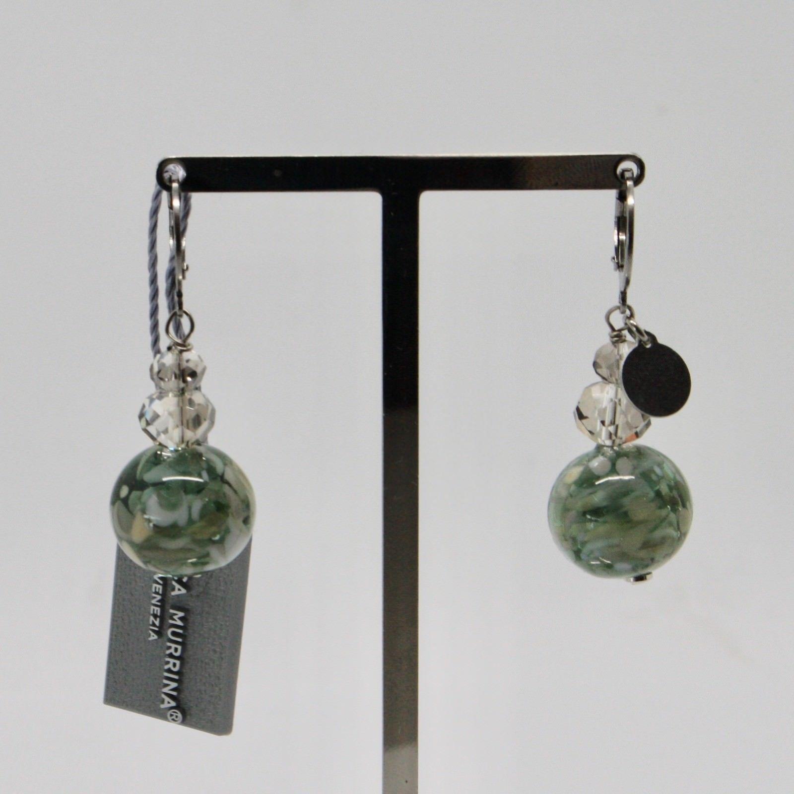 EARRINGS ANTICA MURRINA VENEZIA WITH MURANO GLASS GRAY BEIGE GREEN OR584A34