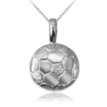 Sterling Silver Soccer Ball Pendant Necklace - $24.99+