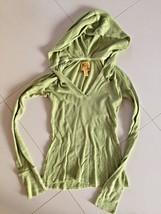 SHEER LONGSLEEVED WOMEN'S GREEN HOODIE BY HOLLISTER CO. SIZE S, CUTE ALL... - $17.00
