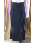 Karl Lagerfeld Evening Skirt Long Black Sheer Panels Mermaid Style 40 Fr... - $147.51