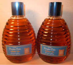 2 Bath & Body Works 10 oz Shower Gel Wash Pure Honey Spiced Pumpkin Cider - $29.99
