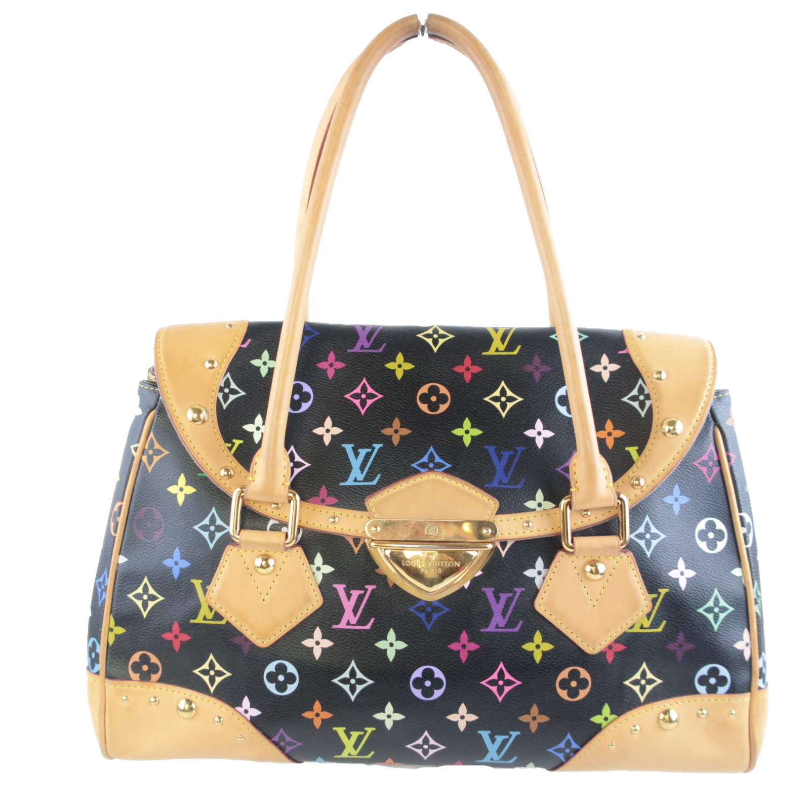 Primary image for Louis Vuitton Black Monogram Multicolore Beverly GM Bag