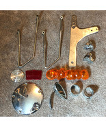 HARLEY DAVIDSON MOTORCYCLE RANDOM PARTS MIXED LOT lights cover mirror tw... - $37.62