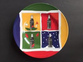 "Set of 4 Coca Cola Four Seasons 10"" Dinner Plates Collectible Melamine 1998 - $26.99"