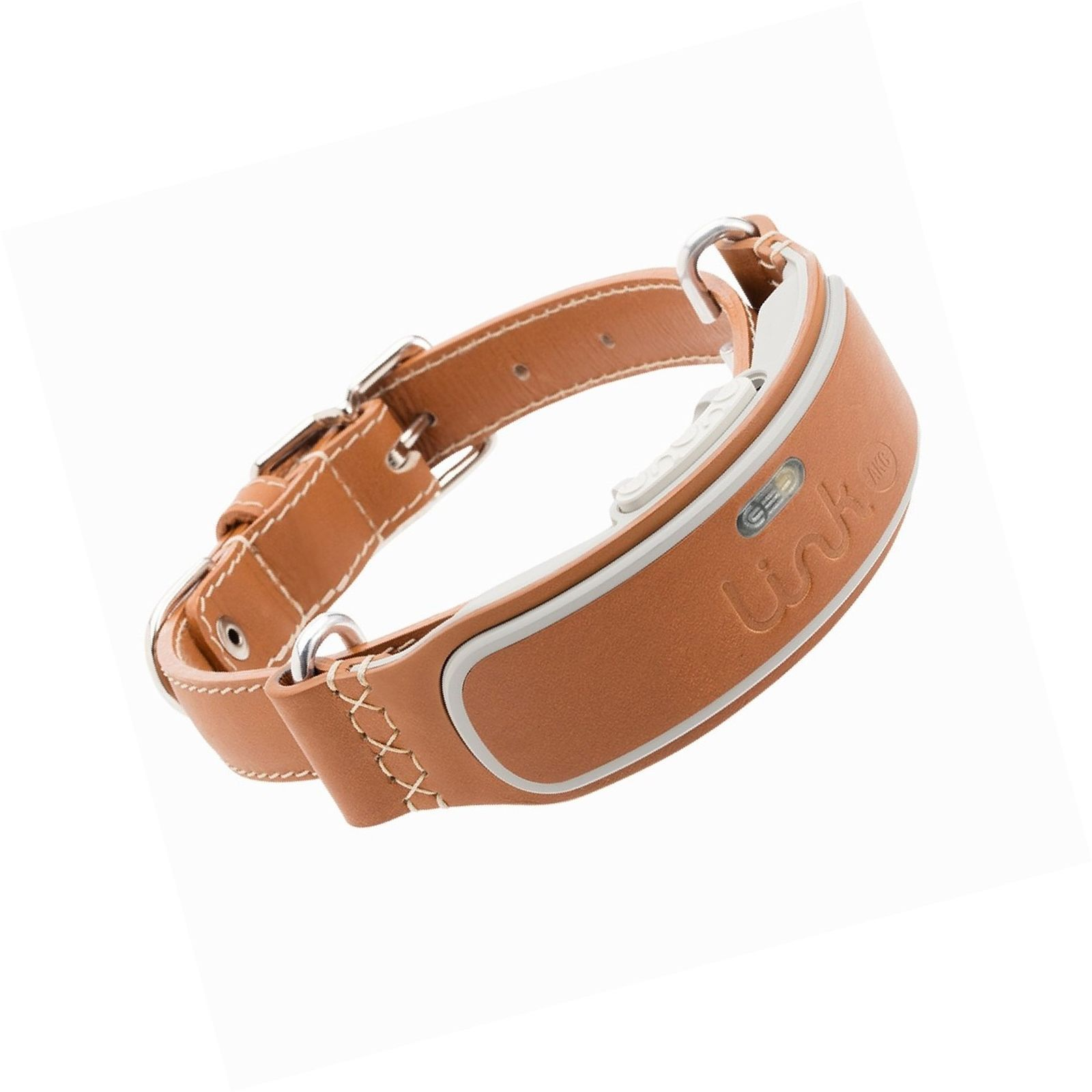 Link AKC Smart GPS Dog Collar - Classic Leather or Sports Device Only Small