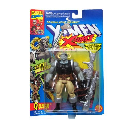 Quark Action Figure - X-Men / X-Force Series - 2 Fisted Quick Draw - Trading Car