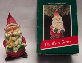 "1989 Hallmark Keepsake OLD WORLD GNOME SANTA CLAUS 3"" CHRISTMAS ORNAMENT... - $15.35"