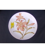 Orange Lily, Yellow Butterfly Japan Wall Plate - $4.99