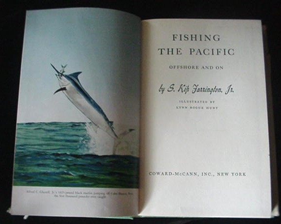 Old c.1953 Fishing The Pacific Offshore & On Ocean Book
