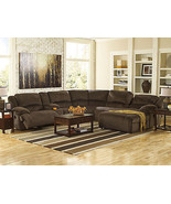 RONDO 6pcs Brown Microfiber Recliner Living Room Sofa Couch Chaise Secti... - $2,085.86