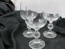 """Lot of 3 Mikasa Crystal Footed Clear Cut Stem 5 3/4"""" Cocktail Glasses - $66.49"""