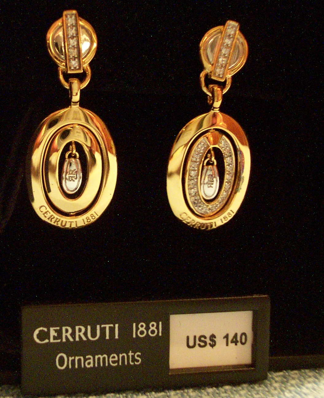 "Cerruti ""Revolving"" Drop Earrings"