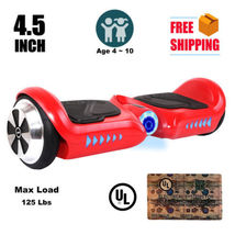 "4.5"" mini red hoverboard two wheel balance scooter UL2272 children safe - $224.00"