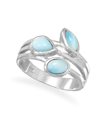 Multishaped Genuine Larimar Ring - £77.78 GBP