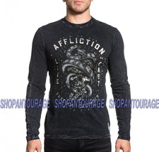 Affliction Join Or Die A18493 New Men`s Black GI Foundation Long Sleeve ... - $57.34