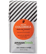 AMAZON FRESH DECAF COLOMBIA WHOLE BEAN COFFEE 12OZ - $10.48