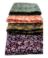 Artisan Block Print Batik Craft Fabric Metre Cloth 100% Cotton Penang Malaysia - $17.99