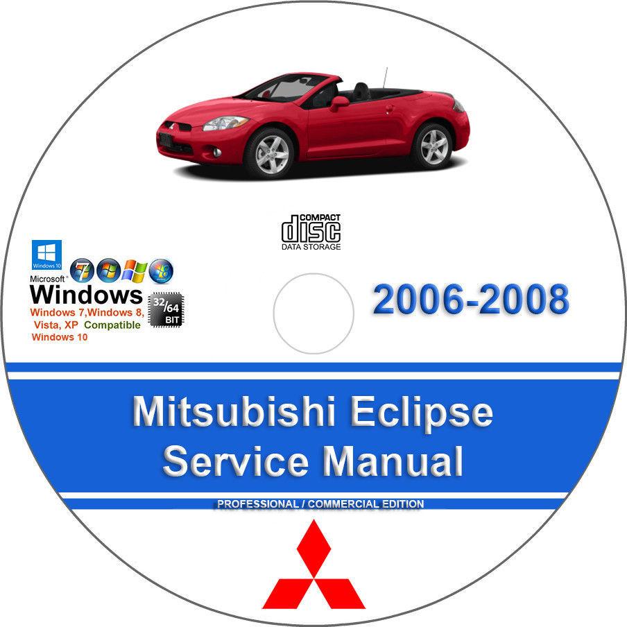 Mitsubishi Eclipse 2006 2007 2008 Factory Workshop Service Repair Manual -  $15.00