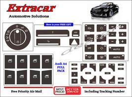 Audi A4 Button Repair Stickers Decals Worn Knob Switch Radio Clima Window - $25.59