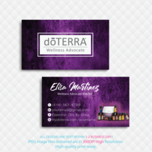 Doterra Business Card, Custom Doterra Business Cards, Doterra Cards, DT86 - $9.99