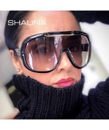 SHAUNA Oversize Cover One Piece Goggle Sunglasses Women Fashion Big Fram... - $72.64