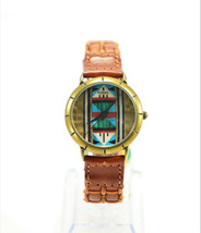 Fossil Wristwatch 1990's Unique Semi-Precious Stone Collection Vintage B... - $179.00
