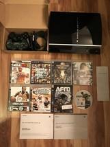 PlayStation 3 (PS3) 40GB Black Console Complete Bundle + 8 Games & 2 Con... - $229.00