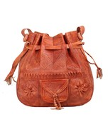 Vintage Shoulder Moroccan Leather Bag Tote Crossbody handmade Genuine Le... - $54.95