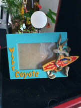 Extremely Rare! WB Looney Tunes Wile E Coyote Surfing Figurine Frame Statue - $267.30