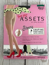 ASSETS BY SPANX SARA BLAKELY SHEERS SHAPING PANTYHOSE SUPER CONTROL BLACK 3 - $14.85