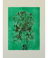 Trees Landscape Art Monotype Solomon - $38.00