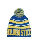 Golden State Men's Blended Stripe Winter Knit Pom Beanie Hat (Royal/Gold) - $13.75