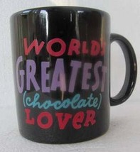 Worlds Greatest (Chocolate) Lover Collectible Ceramic Novelty Coffee Mug... - $15.99