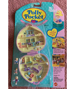 Vintage Polly Pocket Perfect Playroom NEW & SEALED Pink Quilted Heart Ca... - $224.99