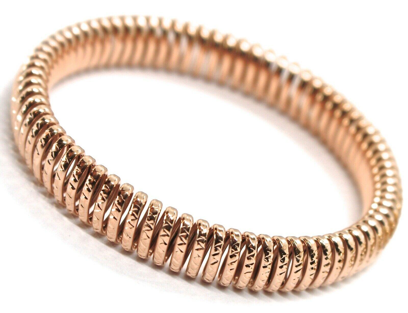 GOLD BRACELET 750 18K, YELLOW 0,5 WHITE 0,5 PINK, SEMI-RIGID, MILLED, ELASTIC image 3