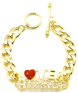 Love & Hip Hop Bracelet New Iced Out High Fashion Style With Toggle Clasp - $29.99