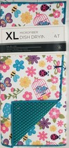 """Extra Large Printed Microfiber Dish Drying Mat, Approx 24""""x18"""",FLOWERS &... - $17.81"""