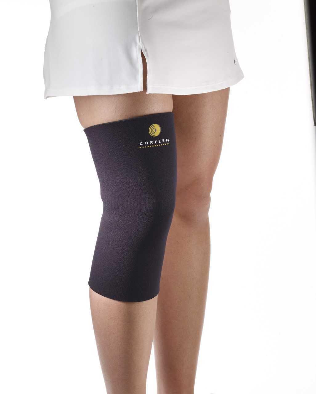 "Corflex Neoprene Compression Knee Sleeve 3/16"" Black - Small - $21.99"