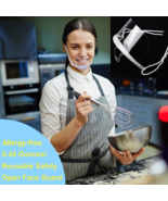 Food White Handlers Anti-Fog Transparent Face Shield or Mouth Shield Reu... - $11.49+