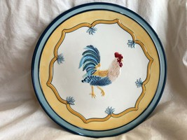 """NEW Fitz & Floyd Mirabelle 8.5"""" Rooster Salad Plate - $24.31"""