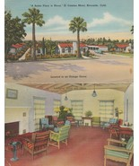 Vintage Postcard El Camino Motel Riverside California Linen Card Unfolds - $6.92