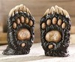 """7.3"""" Bear Paw Design Bookends Designed with Claws Polyresin image 2"""