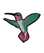 Hummingbird Fully Stitched Embroidered Iron On Patch Hummer Feeder Bird ... - $7.87