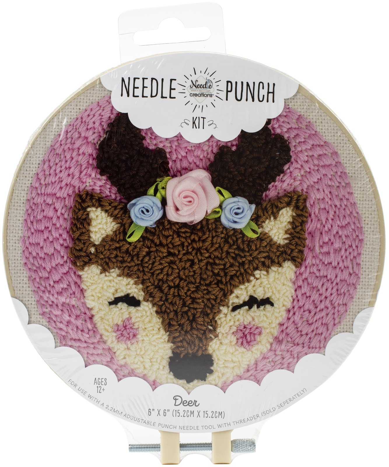 "Fabric Editions Needle Creations Needle Punch Kit 6""-Deer - $16.36"