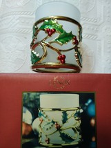 """Lenox Holiday Gold  Votive  Candle Holder 3.5"""" Gold With Ivy Leaves New - $7.31"""