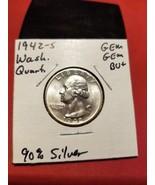 1942-S Washington Silver Quarter GEM GEM BU+ 90% Coin Silver!!! Better D... - $96.00