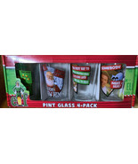 ELF Collector's Series Pint Glass 4 pack Glasses 16oz Each Christmas Fun... - $23.75