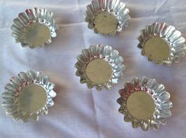reduced! Set of six vintage swedish made aluminum round scalloped  molds... - $8.00