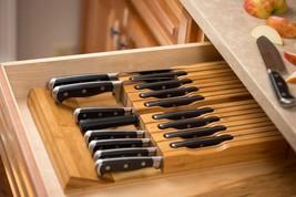 Knife Storage In-Drawer Bamboo Block Slot Organizer Knives Holder Kitche... - $50.16 CAD+