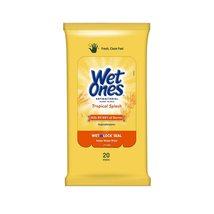 Wet Ones Antibacterial Hand Wipes, Tropical Splash Scent, 20 Count - $7.99